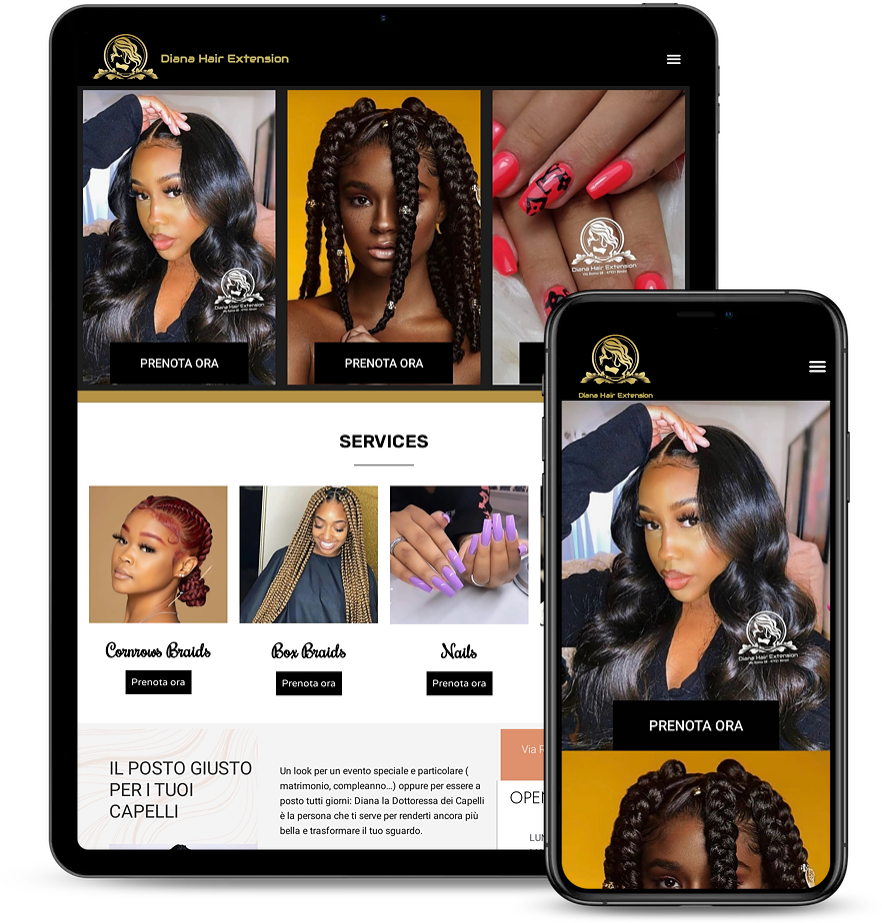 3jsoft WordPress Web design and SEO experts work done on dianahair extension